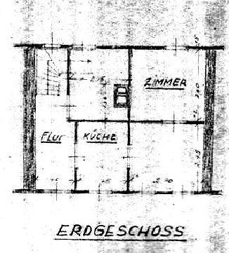 Grundriss Erdgeschoss 1947