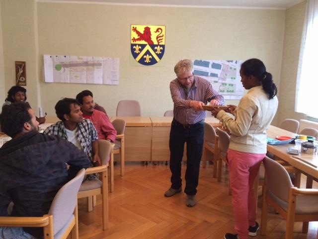 Sprachunterricht im Ratsaal