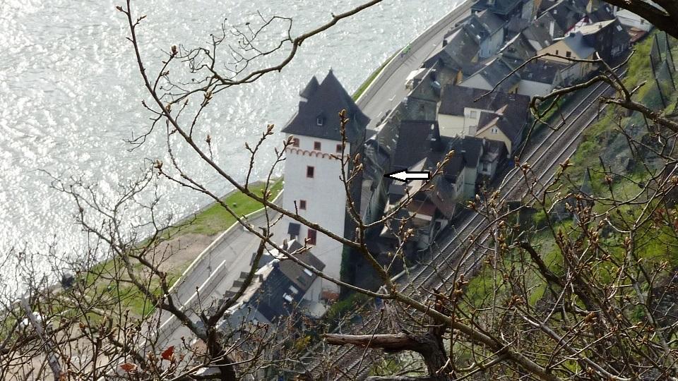 Sankt Goarshausen, südl. Altstadt und Viereckiger Turm