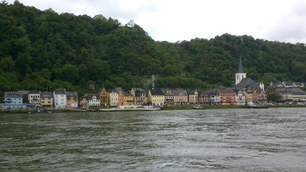 Das Rheinufer von Sankt Goar