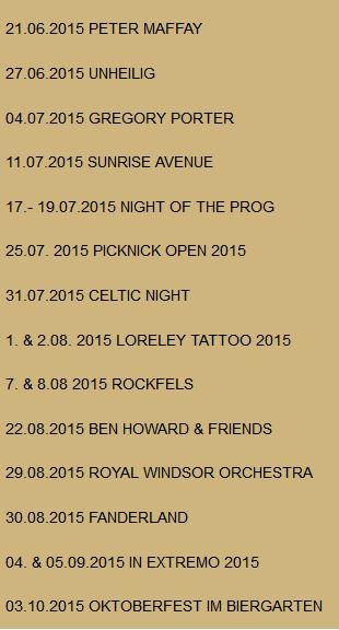 Programm der Loreley-Freilichtbühne Sommer 2015